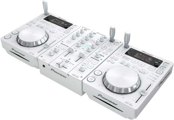 The CDJ-350-W media player has a BEAT display that helps the DJ to see where the beat...