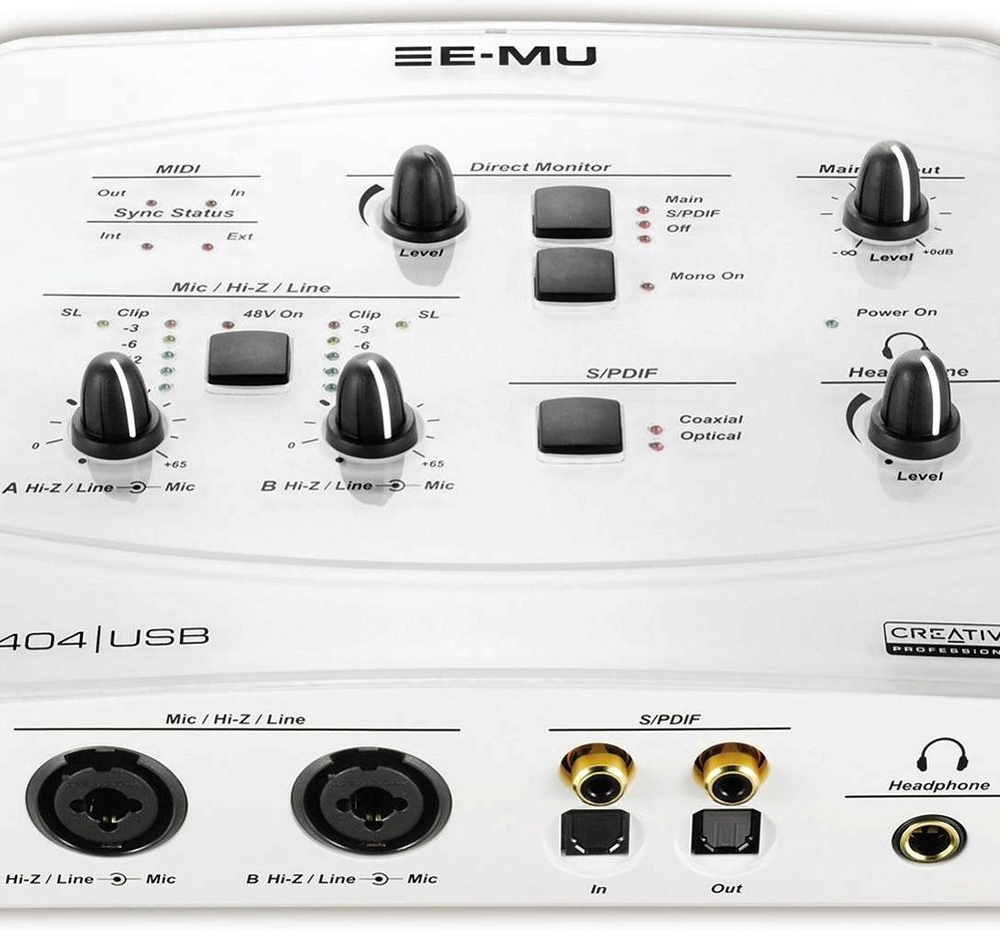 Звуковые карты USB/Thund. Creative Professional E-Mu 0404 USB 2.0 White