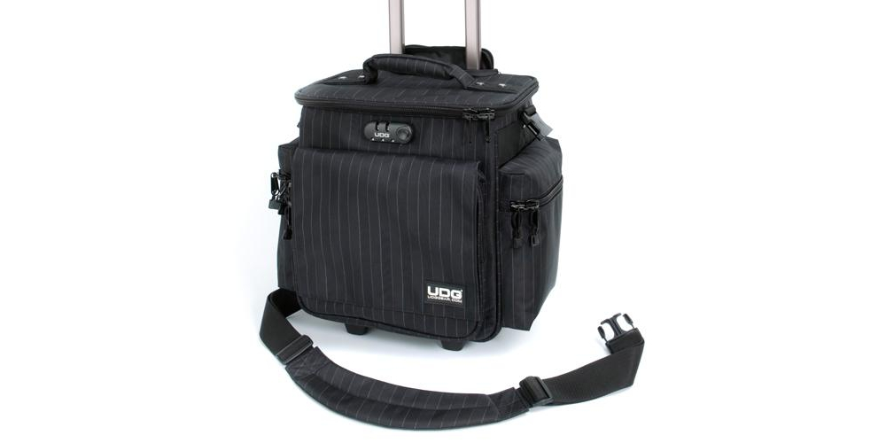 Сумки для пластинок UDG Ultimate SlingBag Trolley DeLuxe Black/Grey Stripe