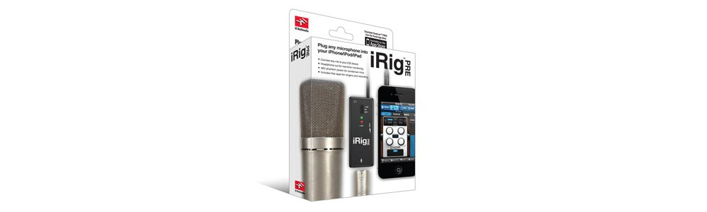 Apple accessories  IK Multimedia iRig PRE