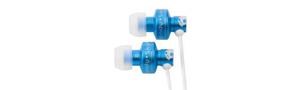 Наушники для плеера  Skullcandy FULL METAL JACKET Blue 9MM