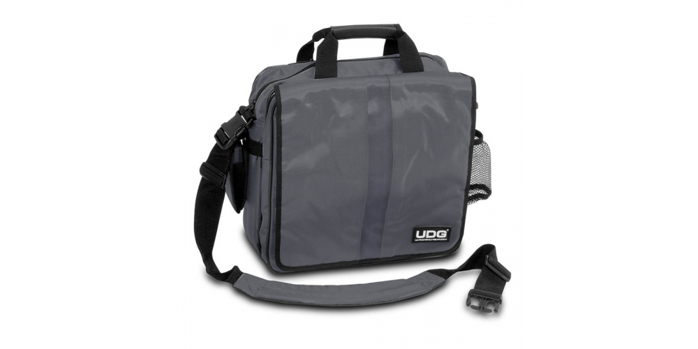 Сумки для пластинок UDG Ultimate CourierBag DeLuxe Steel Grey/Orange
