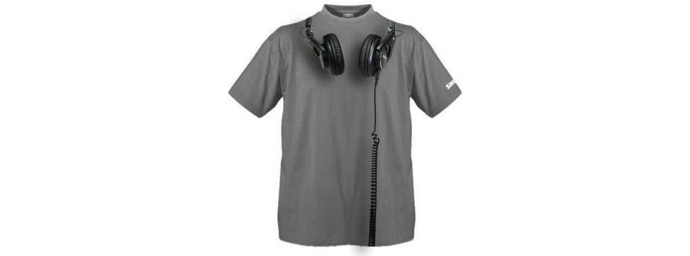 Футболки Shure T-SHIRT WITH SHURE SRH HEADPHONES