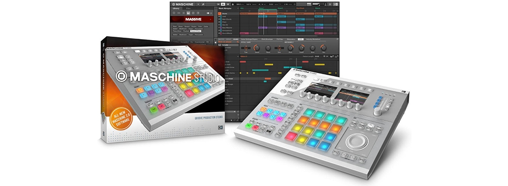 Сэмплеры Native Instruments Maschine Studio white