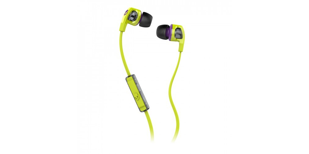 Наушники для плеера  Skullcandy Smokin Bud 2.0 Hot Lime/Purple Mic1