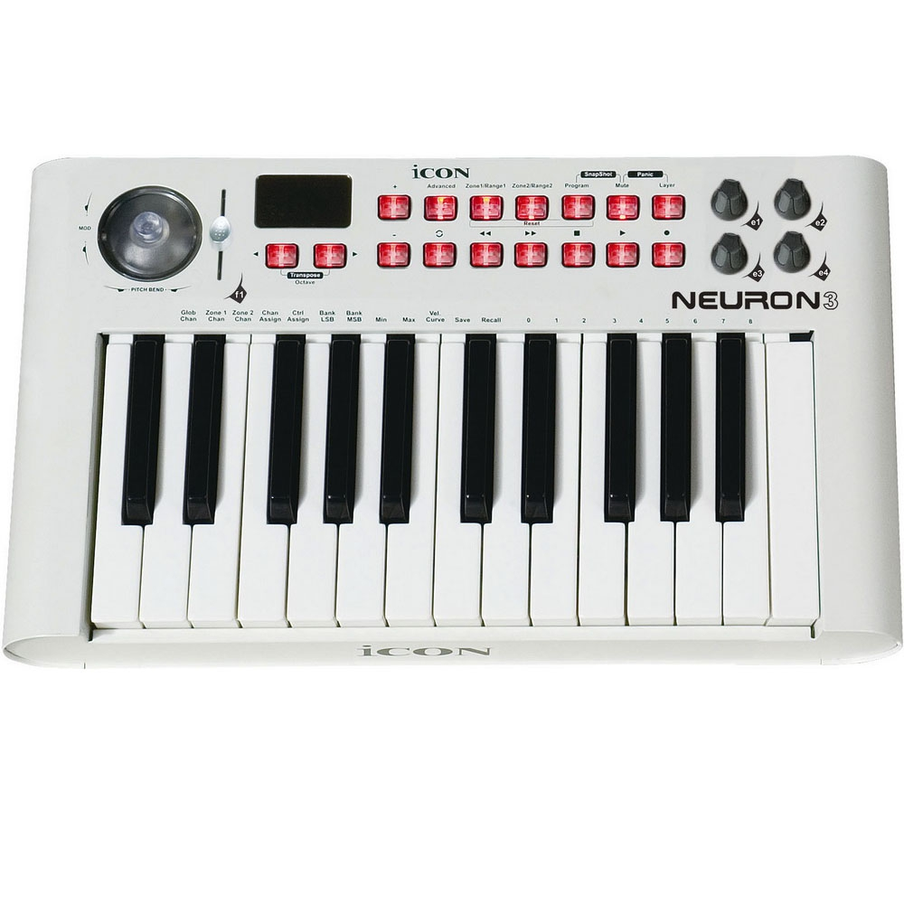 Midi-клавиатуры Icon Neuron-3 White