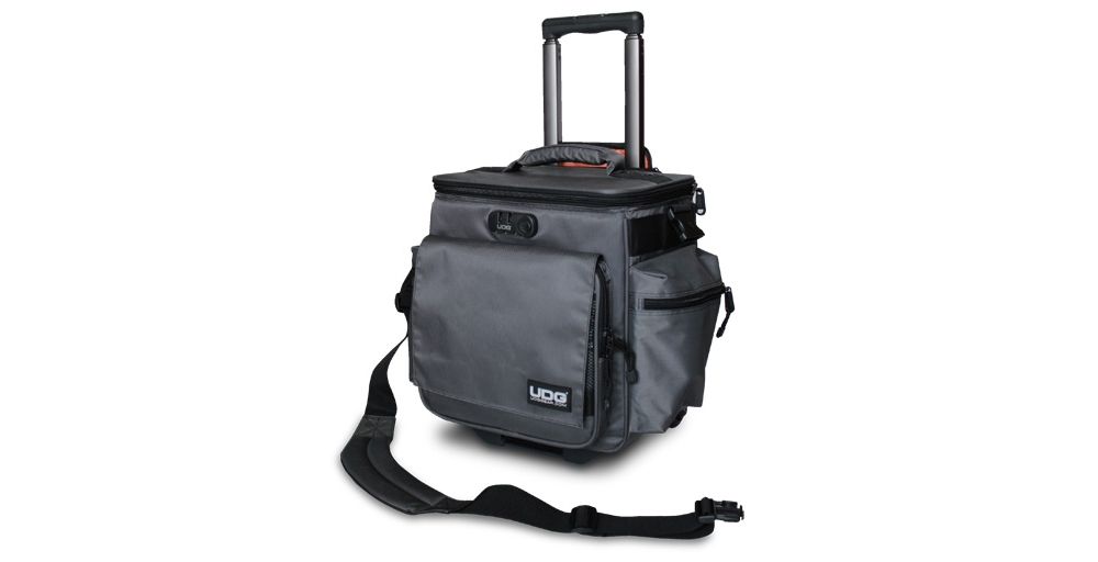 Сумки для пластинок UDG Ultimate SlingBag Trolley DeLuxe Steel Grey/Orange