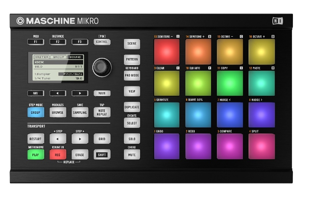 DJ-контроллеры Native Instruments Maschine Mikro Mk II