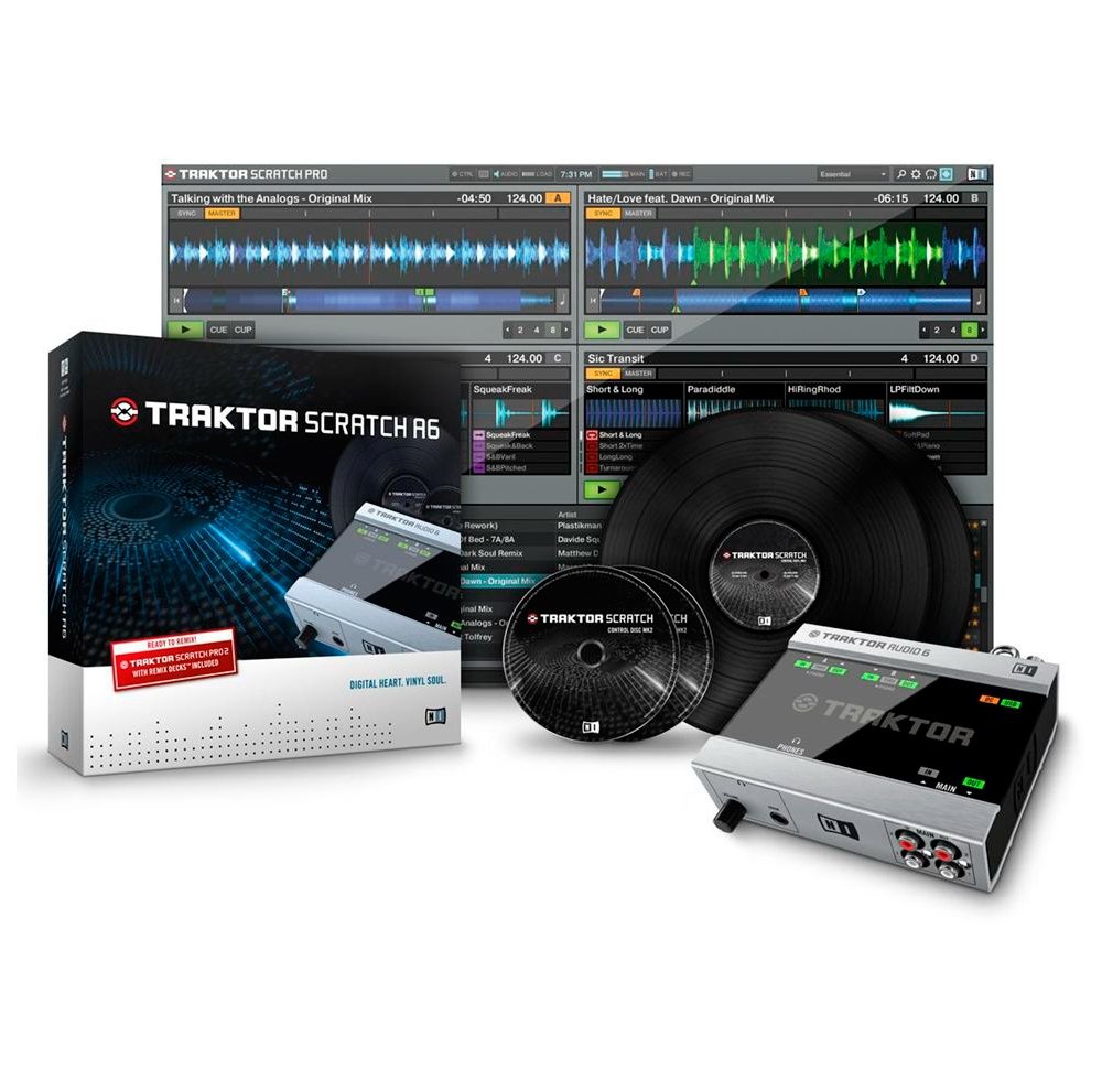 DVS-системы  Native Instruments TRAKTOR Scratch A6