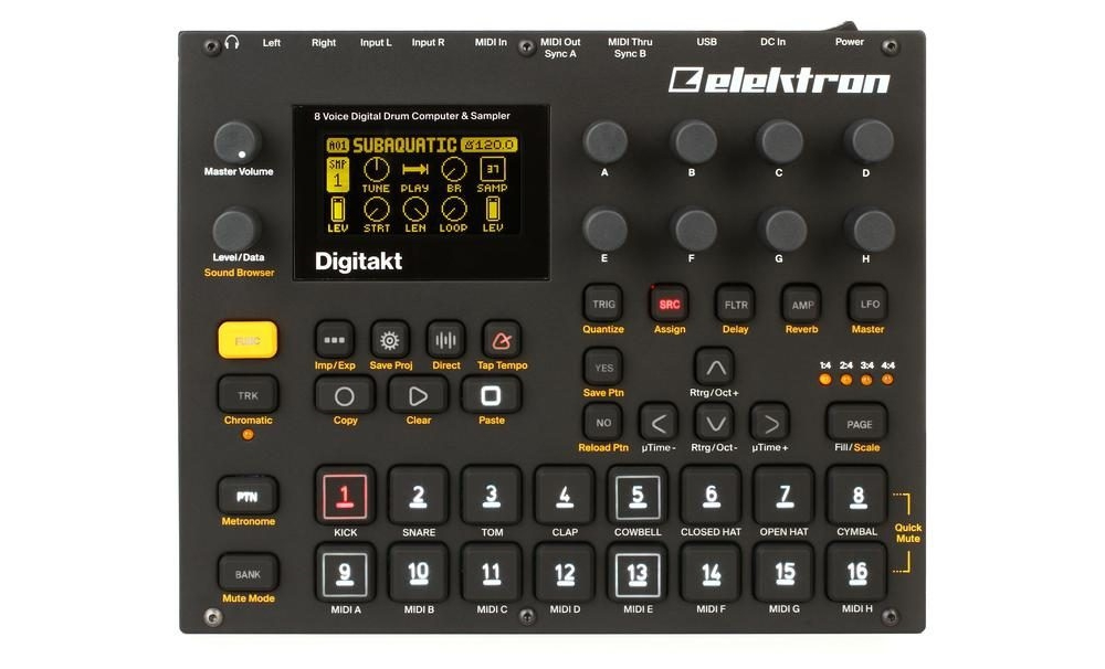 Drum-машины Elektron Digitakt