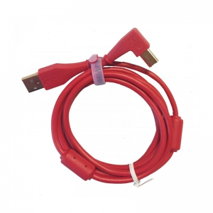 DJ Tech Tools Chroma Cables Red (angled)