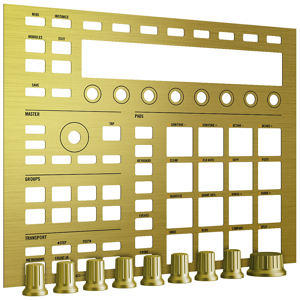 Native Instruments Custom Kit (Solid Gold) панель