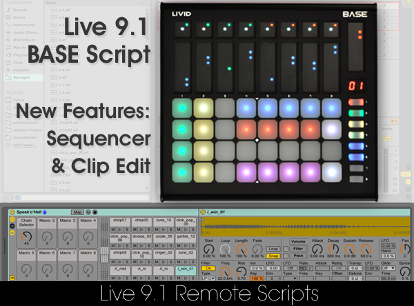 Livid Instruments, BASE Remote Script для Ableton Live 9.1